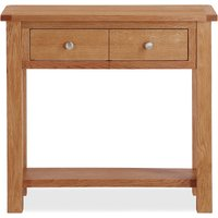 bromley oak console table natural