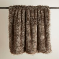 Natural Bear Faux Fur Throw Natural