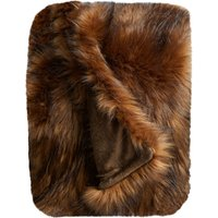 Chestnut Brown Bear Faux Fur Throw Chestnut (Brown)