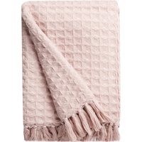 Madison Dusty Pink Waffle Throw Dusty Pink