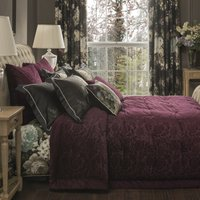 Dorma Burford Plum Bedspread Plum (Purple)
