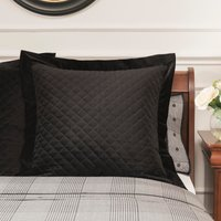 Dorma Kensington Black Velvet Continental Pillowcase Black