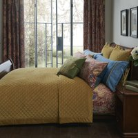 Dorma Merton Ochre Bedspread Ochre (Yellow)