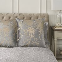 Dorma Abbotsbury Pewter Continental Pillowcase Pewter (Grey)