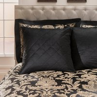 Dorma Blenheim Black Continental Pillowcase Black