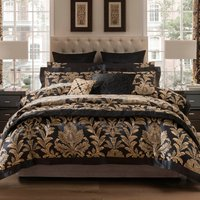 Dorma Blenheim Black Jacquard Bedspread Black