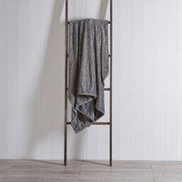 Quinn Charcoal Fleece Throw Charcoal Grey