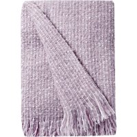 Mauve Faux Mohair Throw Purple