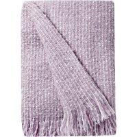 Mauve Faux Mohair Throw Purple