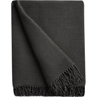 Elements Charcoal Pleated Throw Charcoal Grey