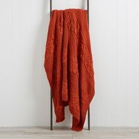 Laken Terracotta Knit Throw Terracotta Orange