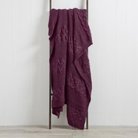 Laken Plum Knit Throw Plum Purple