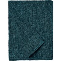 Chenille Petrol Blue Throw Petrol Blue