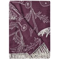 Wiltshire Plum Floral Throw Plum Purple