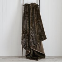 Ash Brown Faux Fur Throw Ash (Brown)