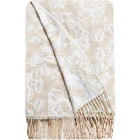 Olivia Natural Floral Throw Natural