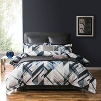 5A Fifth Avenue Brooklyn Digitally Printed 100% Cotton Blue Duvet Cover Blue