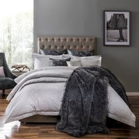 5A Fifth Avenue Broadway Jacquard 100% Cotton Duvet Cover Grey