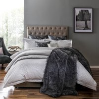 5A Fifth Avenue Broadway Grey Jacquard Bedspread Grey