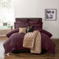 5A Fifth Avenue Portland 100% Cotton Plum Duvet Cover Plum