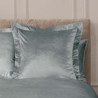 Dorma Camberly Pewter Continental Pillowcase Pewter (Grey)