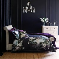 Dorma Burford 100% Cotton Floral Duvet Cover Black