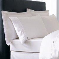 Dorma Plain Dye 750 Thread Count White Oxford Pillowcase Pair White