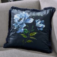 Charm Floral Midnight Blue Cushion Midnight (Blue)
