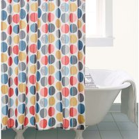 Elements Circle Shower Curtain Multi Coloured