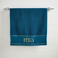 HERS Teal Hand Towel Teal (Blue)