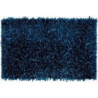 Textured Teal Bath Mat Teal (Blue)