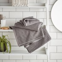 Elements Grey Dots Towel Grey