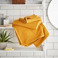 Elements Ochre Dots Towel Ochre (Yellow)