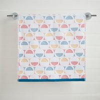 Elements Circles Hand Towel Multi Coloured
