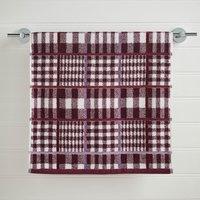 Skye Plum Check Hand Towel Plum (Purple)