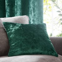 Emerald Crushed Velour Cushion Emerald (Green)
