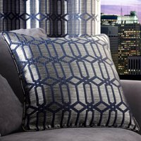 5A Fifth Avenue Lexington Geo Midnight Blue Cushion Midnight (Blue)