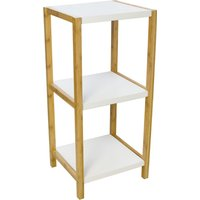 Elements 3 Tier Shelf Unit White