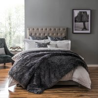 5A Fifth Avenue Franklin Faux Fur Throw Grey