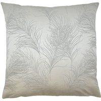Large Everly Silver Cushion Cover Silver