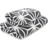 Charcoal Geo Towel Charcoal (Grey)