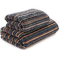 Black Stripes Towel Black