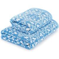 Cornflower Blue Tiles Towel Cornflower Blue