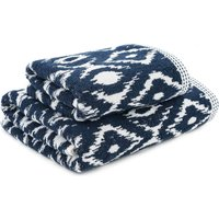 Global Blue Diamonds Towel Blue