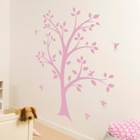 Fairy Tree Wall Sticker Pink