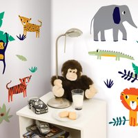 Jungle Wall Stickers Multi Coloured