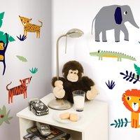 Jungle Wall Stickers Multi Coloured