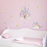 Fairy Castle Wall Stickers Pink