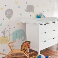 Ellie and Friends Wall Stickers White/Blue/Grey