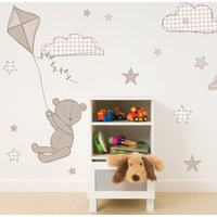 Archie Bear Wall Stickers Natural